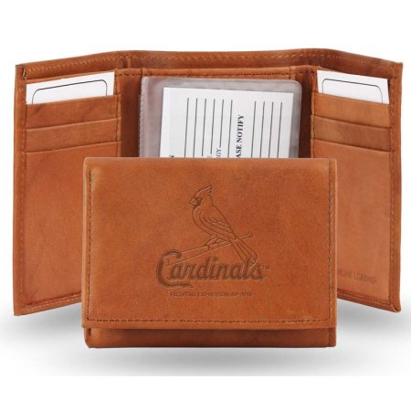 MLB St. Louis Cardinals Official One Size Leather Trifold Wallet by Rico Industries