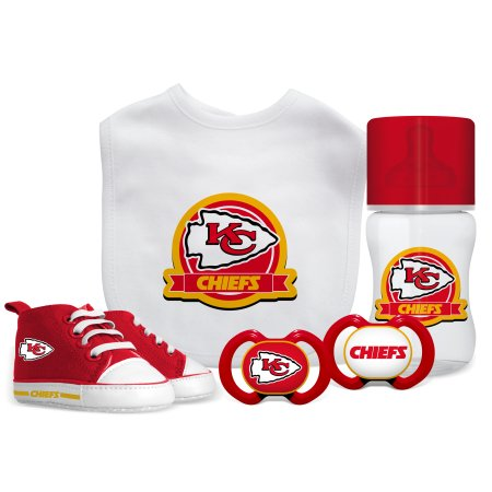 NFL Kansas City Chiefs 5-Piece Baby Gift Set