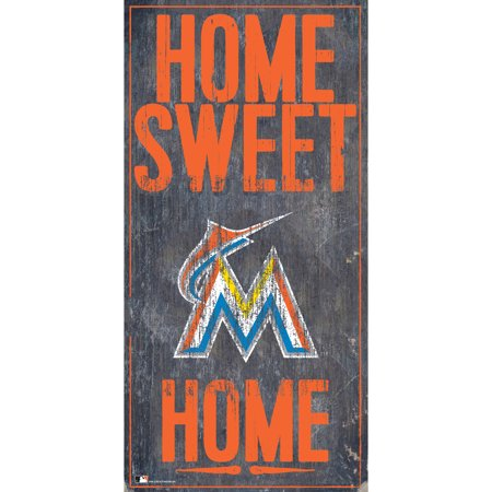 MLB Miami Marlins 6'' x 12'' Home Sweet Home Sign