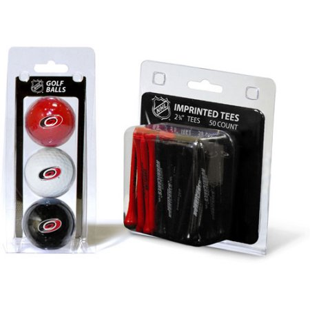 Team Golf NHL Carolina Hurricanes 3 Golf Balls And 50 Golf Tees