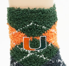 NCAA Miami Hurricanes Argyle Fuzzy Socks