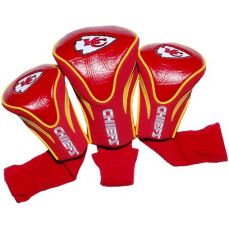 NFL Kansas City Chiefs 3 Pack Contour Head Covers