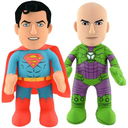 "Bleacher Creatures Dynamic Duo 10"" Plush Figures, DC Universe Superman and Lex Luthor"