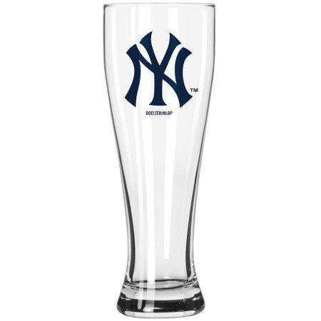 Boelter Brands MLB New York Yankees 23-Ounce Grand Pilsner with Full Color Team Logo