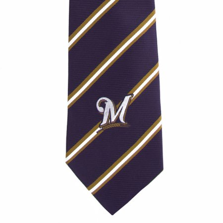 MLB Milwaukee Brewers Stripe One Necktie