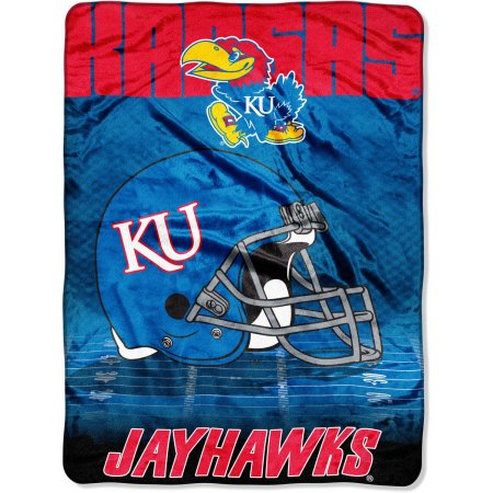 "Kansas Jayhawks 60"" x 80"" Oversized Micro Raschel Throw Blanket"