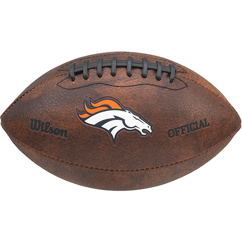 "Wilson NFL Denver Broncos 9"" Color Throwback Football"