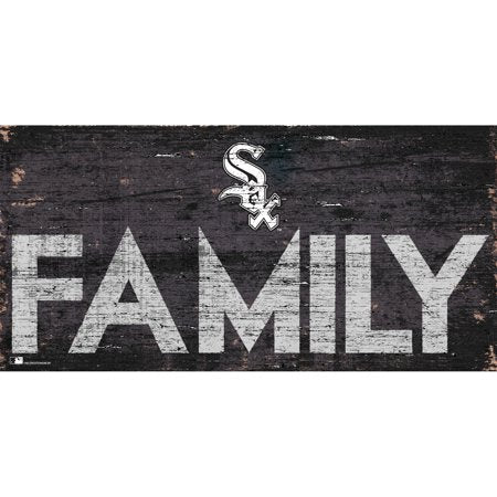 MLB Chicago White Sox 6'' x 12'' Distressed Wood Family Sign