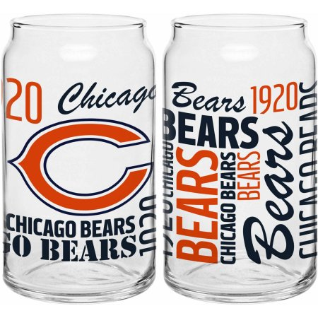 Boelter Brands NFL Chicago Bears Set of Two 16 Oz Spirit Glasses