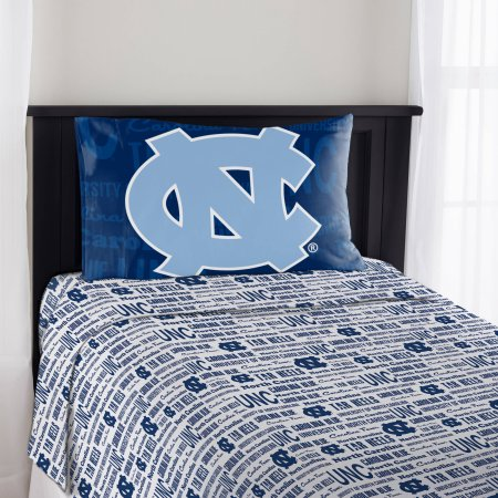 "NCAA North Carolina Tar Heels ""Anthem"" Twin Sheet Set"