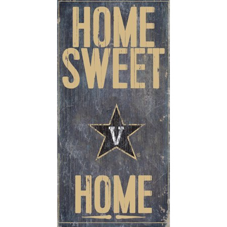 NCAA Vanderbilt Commodores 6'' x 12'' Home Sweet Home Sign
