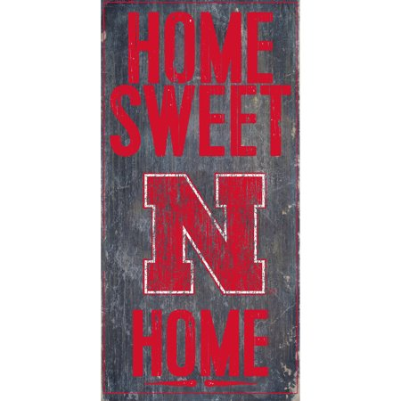 NCAA Nebraska Cornhuskers 6'' x 12'' Home Sweet Home Sign