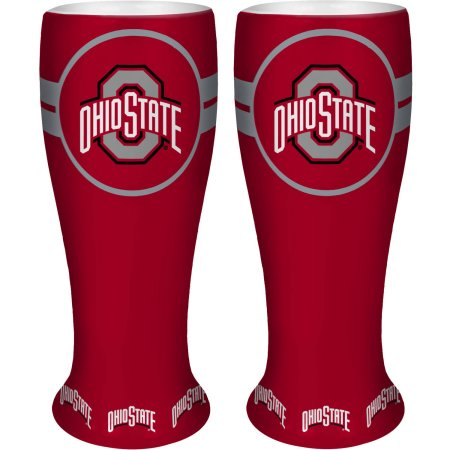 NCAA Ohio State Buckeyes 2-Pack Ceramic Collectible Pilsners