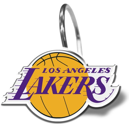 NBA Los Angeles Lakers Shower Curtain Hooks 12 Piece Set