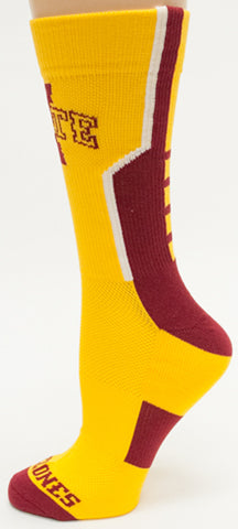 NCAA Iowa State Cyclones Gold Athletic Performance Socks