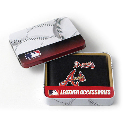 MLB Men's Atlanta Braves Embroidered Billfold Wallet