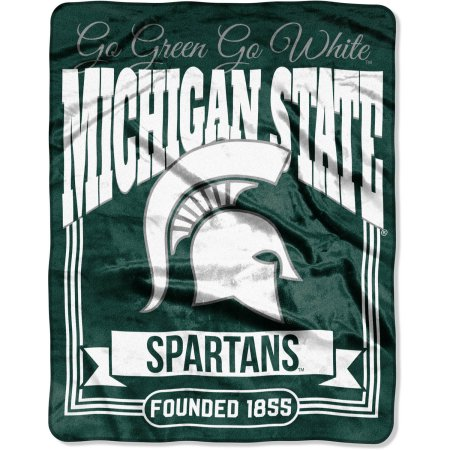 "NCAA Michigan State Spartans ""Traction"" 55"" x 70"" Silk Touch Throw"