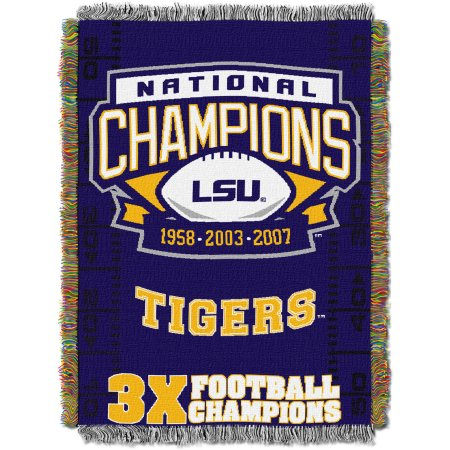 "NCAA 48"" x 60"" Commemorative Series Tapestry Throw, LSU"