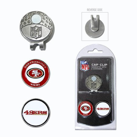 Team Golf NFL San Francisco 49ers Cap Clip With 2 Golf Ball Markers