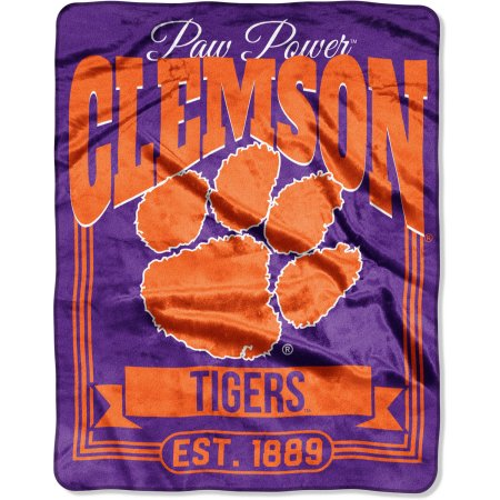 "NCAA Clemson Tigers ""Traction"" 55"" x 70"" Silk Touch Throw"