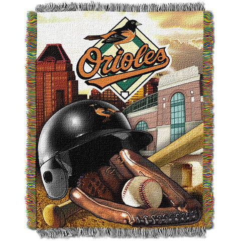 "MLB 48"" x 60"" Home Field Advantage Series Tapestry Throw, Orioles"