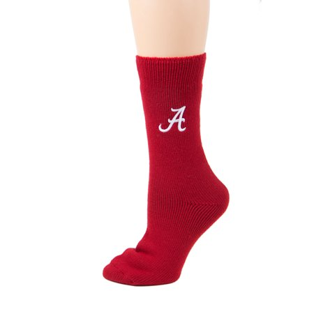 NCAA Alabama Crimson Tide Red Thermal Socks