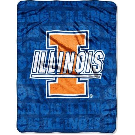 "Illinois Fighting Illini 46"" x 60"" Micro Raschel Throw Blanket"