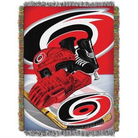 "NHL 48"" x 60"" Home Ice Advantage Series Tapestry Throw, Hurricanes"