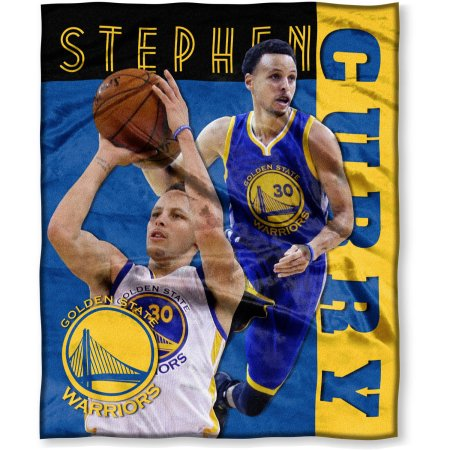 "NBA Stephen Curry 50"" x 60"" Golden State Warriors Players High Definition Silk Touch Throw"