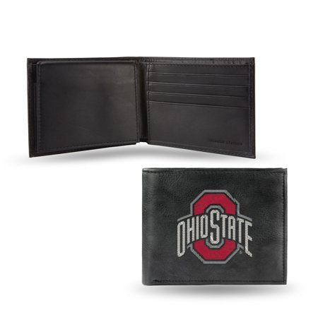 NCAA Men's Ohio State Buckeyes Embroidered Billfold Wallet