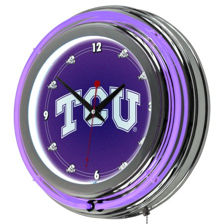 "NCAA Texas Christian University 14"" Neon Wall Clock"