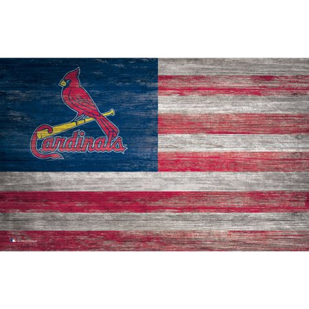 MLB St. Louis Cardinals 11'' x 19'' Distressed Flag Sign