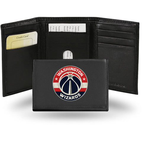 NBA Men's Washington Wizards Embroidered Trifold Wallet