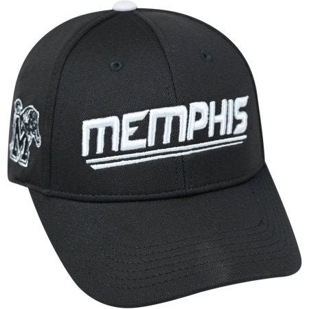 NCAA University of Memphis Tigers Black Baseball Hat \ Cap