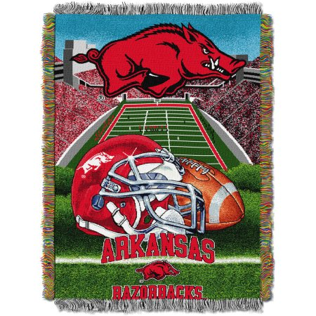 "NCAA 48"" x 60"" Tapestry Throw Home Field Advantage Series- Arkansas"
