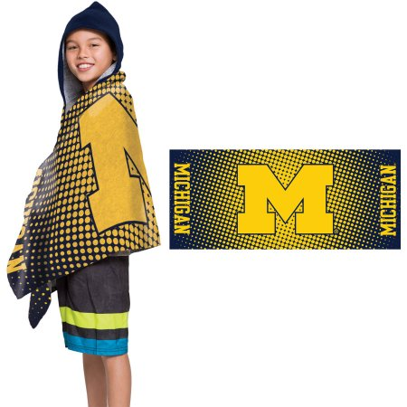 "NCAA Michigan Wolverines ""Dots"" Youth Terry Cloth Hooded Wrap Towel"