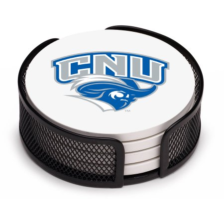 NCAA Christopher Newport University Stoneware Drink Coaster Set with Holder Included