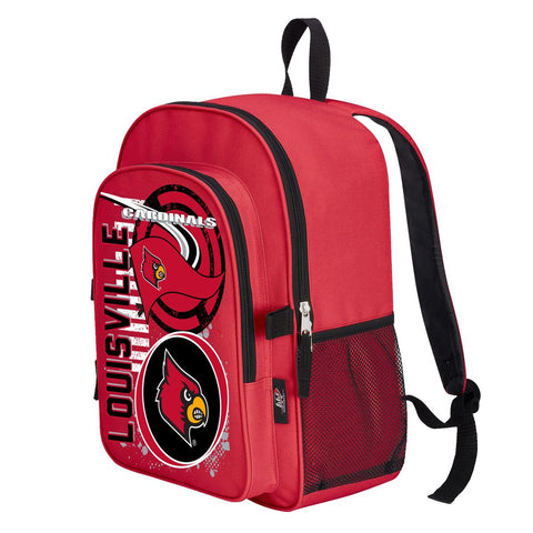 "Louisville Cardinals ""Accelerator"" Backpack and Lunch Bag / Box Set"