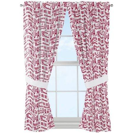 "NCAA Alabama Crimson Tide ""Anthem"" Window Curtain Panels - Set of 2 - 36"" x 48"""