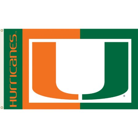 NCAA Miami Hurricanes 3'x5' Flag