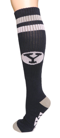 NCAA BYU Cougars Blue Retro Style Knee-High Tube Socks