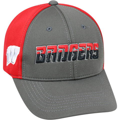 NCAA Wisconsin Badgers Grey Two Tone Baseball Adjustable Hat