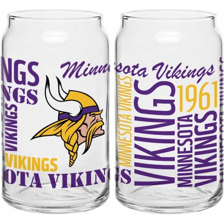 Boelter Brands NFL Minnesota Vikings Set of Two 16 Oz Spirit Glasses