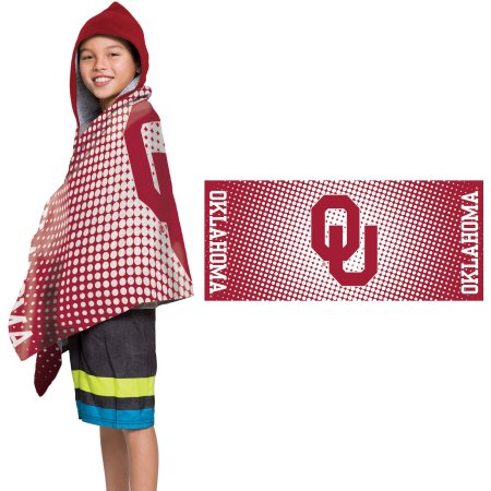 "NCAA Oklahoma Sooners ""Dots"" Youth Terry Cloth Hooded Wrap Towel"