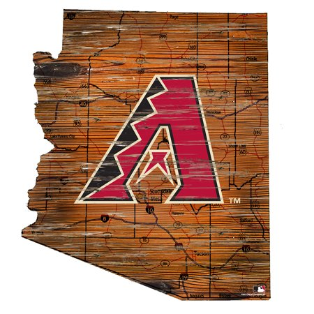 MLB Arizona Diamondbacks 12'' Road Map State Cutout Sign