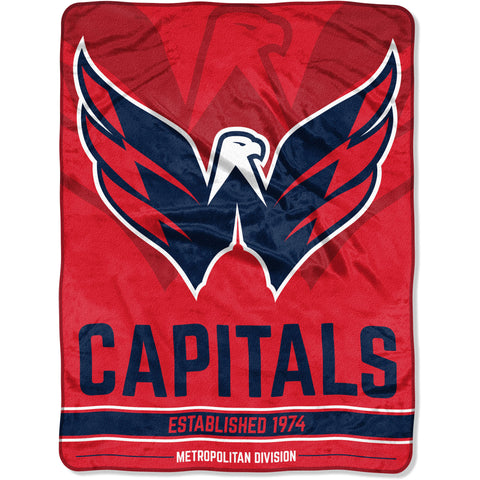 "NHL Washington Capitals ""Breakaway"" 46""x 60"" Micro Raschel Throw Blanket"