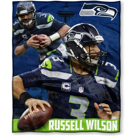 "NFL Players Association Russell Wilson 50"" x 60"" Seattle Seahawks Players High Definition Silk Touch Throw"