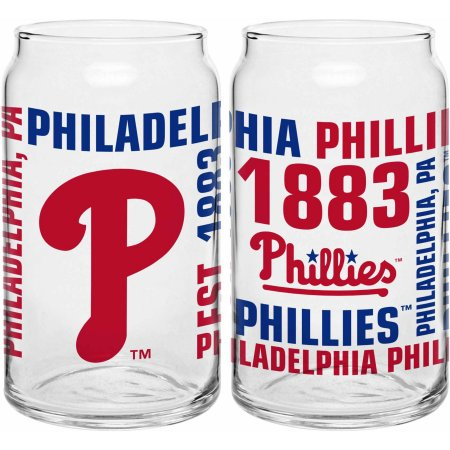 Boelter Brands MLB Philadelphia Phillies Set of Two 16 Oz Spirit Glasses