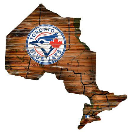 MLB Toronto Blue Jays 12'' Road Map State Cutout Sign