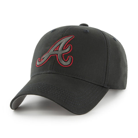 MLB Atlanta Braves Black Mass Adjustable Hat